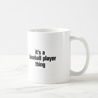 su una cosa del jugador de béisbol taza clásica