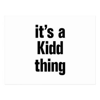su una cosa del kidd tarjeta postal