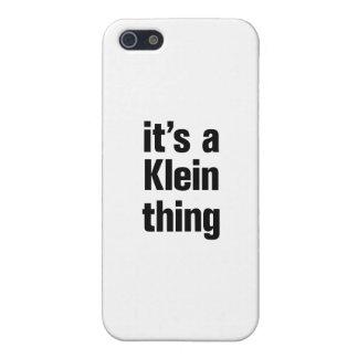 su una cosa del klein iPhone 5 cárcasas