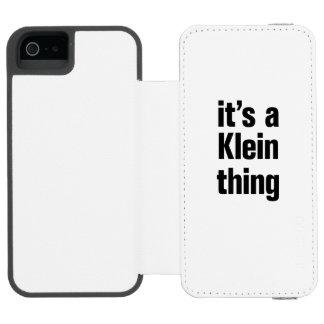 su una cosa del klein funda cartera para iPhone 5 watson
