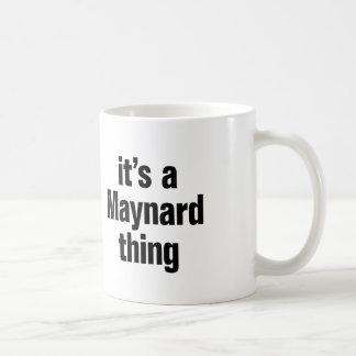 su una cosa del maynard taza clásica