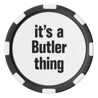 su una cosa del mayordomo juego de fichas de póquer