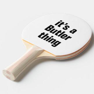 su una cosa del mayordomo pala de tenis de mesa