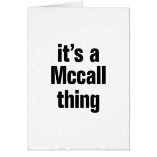 su una cosa del mccall tarjeta de felicitación