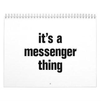 su una cosa del mensajero calendario de pared