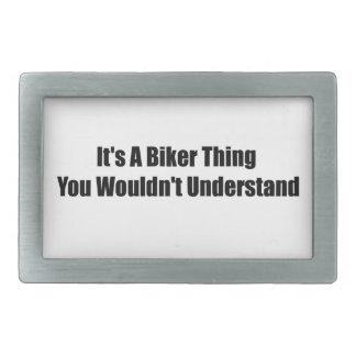 Su una cosa del motorista que usted no entendería hebillas cinturón rectangulares