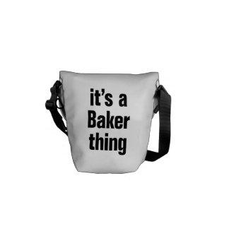 su una cosa del panadero bolsa de mensajeria