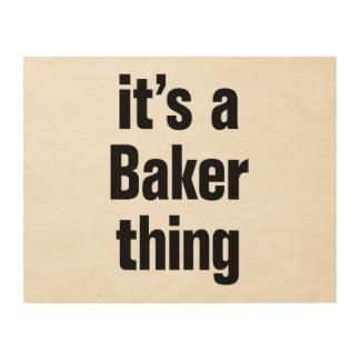 su una cosa del panadero cuadro de madera