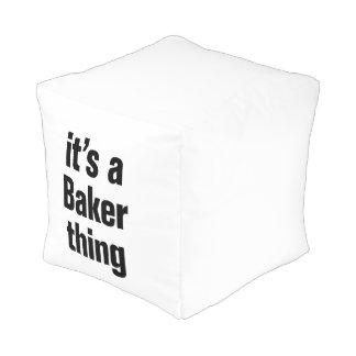 su una cosa del panadero puff cuadrado