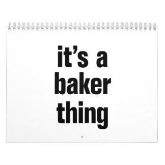 su una cosa del panadero calendario