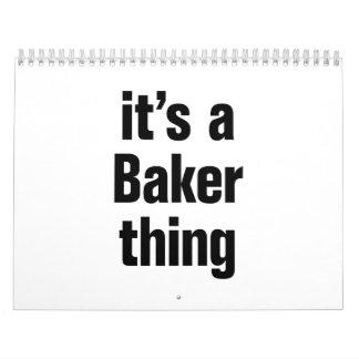 su una cosa del panadero calendario de pared