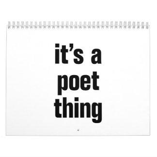 su una cosa del poeta calendario de pared