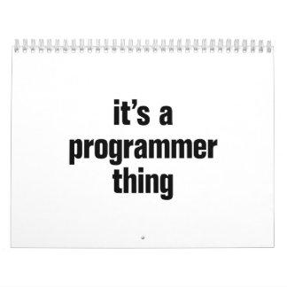 su una cosa del programador calendarios