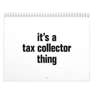 su una cosa del recaudador de impuestos calendarios de pared