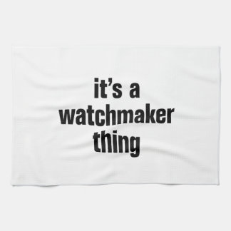 su una cosa del relojero toallas de cocina