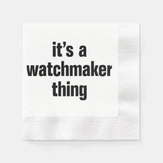 su una cosa del relojero servilletas de papel