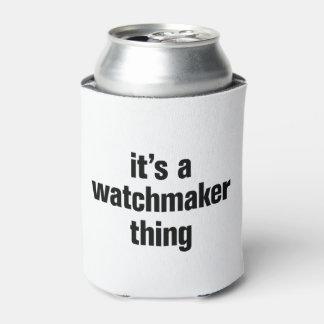 su una cosa del relojero enfriador de latas