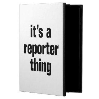 su una cosa del reportero