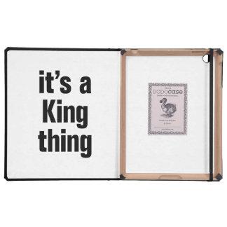 su una cosa del rey iPad protector