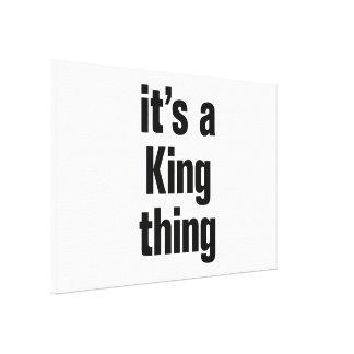 su una cosa del rey lona envuelta para galerias