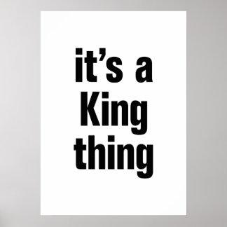su una cosa del rey póster