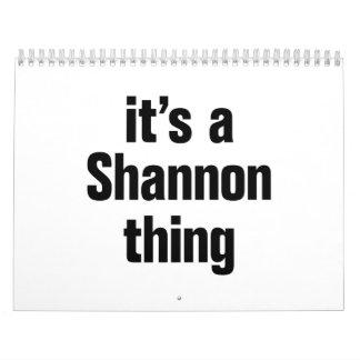 su una cosa del shannon calendario de pared