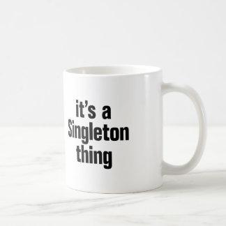 su una cosa del singleton taza de café