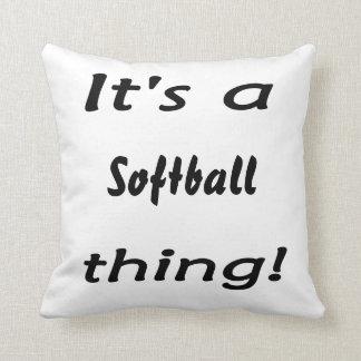 ¡Su una cosa del softball! Cojín