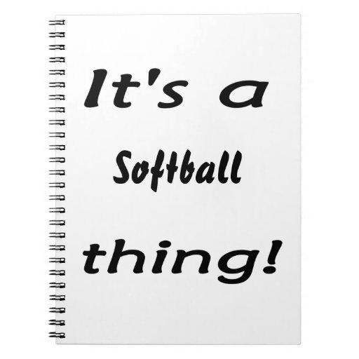 ¡Su una cosa del softball! Libro De Apuntes