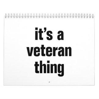 su una cosa del veterano calendarios