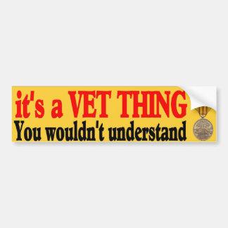 su una cosa del veterinario pegatina de parachoque