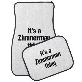 su una cosa del zimmerman alfombrilla de auto