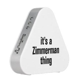 su una cosa del zimmerman altavoz