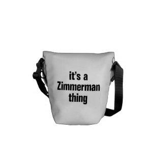 su una cosa del zimmerman bolsa messenger