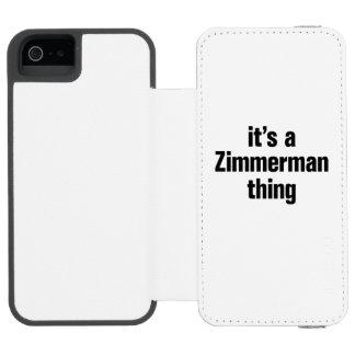 su una cosa del zimmerman funda billetera para iPhone 5 watson