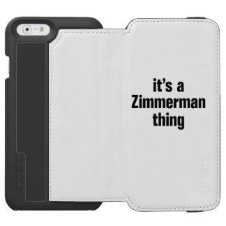 su una cosa del zimmerman funda billetera para iPhone 6 watson