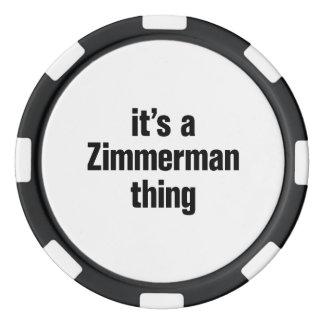 su una cosa del zimmerman juego de fichas de póquer