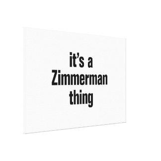 su una cosa del zimmerman lienzo envuelto para galerías