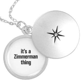 su una cosa del zimmerman medallón