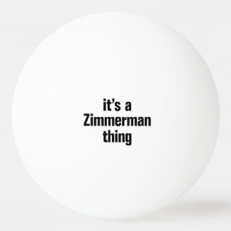 su una cosa del zimmerman pelota de ping pong