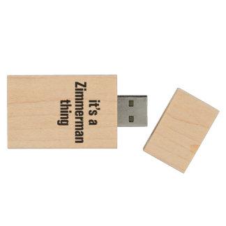 su una cosa del zimmerman pen drive de madera USB 2.0