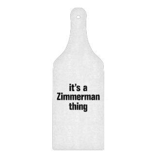 su una cosa del zimmerman tabla de cortar