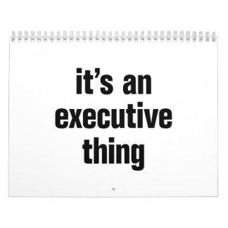 su una cosa ejecutiva calendario