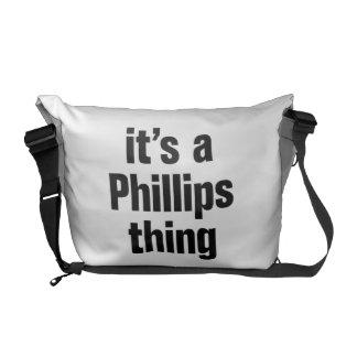 su una cosa Phillips Bolsas De Mensajería