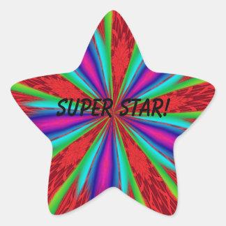 su una estrella estupenda pegatina en forma de estrella