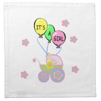 Su una niña servilletas de papel