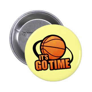 Su va el botón del baloncesto del tiempo pins