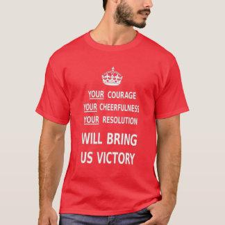 Su valor nos traerá la victoria. El mejor precio Playera