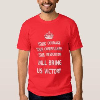 Su valor nos traerá la victoria. El mejor precio Polera