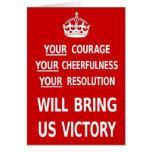 Su valor nos traerá la victoria. El mejor precio Tarjetas